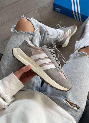 Кроссовки женские/мужские adidas retropy e5 solid grey