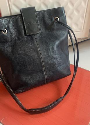 Шикарная кожаная сумка debenhams на плечо/100% кожа