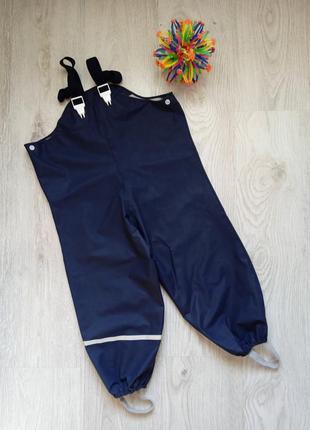 Полукомбинезон дождевик штаны грязепруф, 98-110 см. непромокайки. h&m