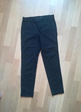 Чёрные укороченные брюки штаны