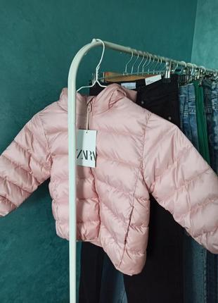 Демисезонная курточка лля девочки зара 104 р 3-4 года