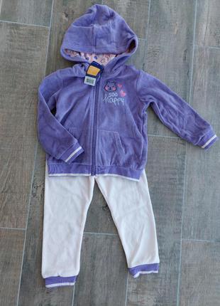 Комплект набор набір костюм костюмчик фірми лупілу lupilu 1-2