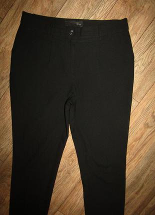 Черные зауженные брюки р-р л бренд la ligna