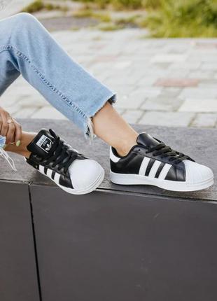 Adidas superstar 🍏 стильные женские кроссовки адидас суперстар