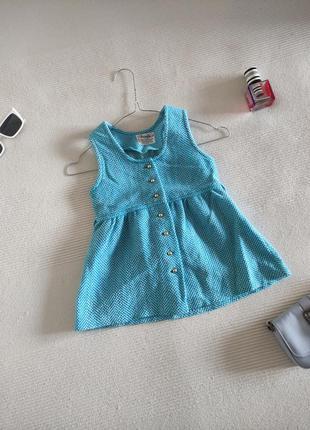 Детское тёплое голубое платье 💙