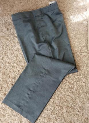 Теплые брюки, классика, вискоза, шерсть