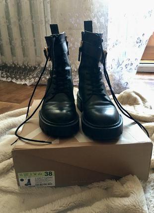 Ботинки берцы сапоги кожаные натуральные