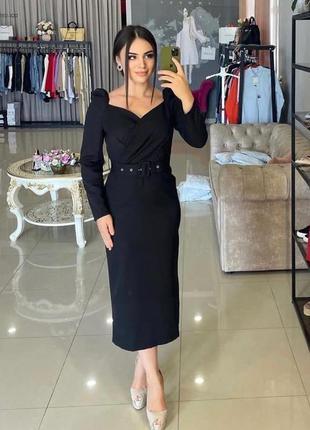 Супер стильное платье миди