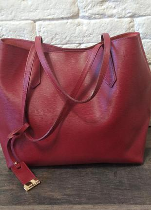 Кожаная сумка шоппер gianni notaro