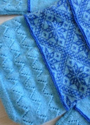 Свитер ручной вязки узор снежинки❄, скандинавский стиль, отличный подарок 🎁🌟🎄3