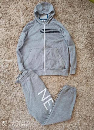 Комплект, костюм, кофта, мастерка, олимпийка, штаны adidas