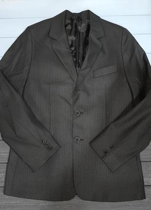 Школьный пиджак для мальчика в полоску 10-12 лет