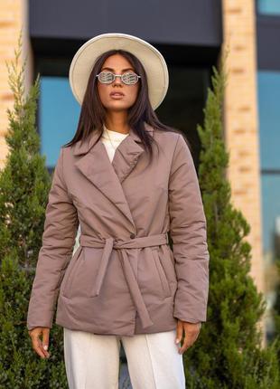 Куртка жакет женская с поясом демисезонная wearme