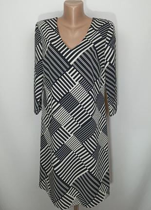 Платье новое стильное на подкладке в принт marks&spencer uk 10/38/s