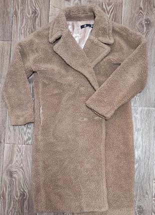 Пальто шубка тедді