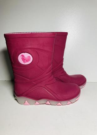 Резиновые сапоги светятся сапожки гумачки на девочку розовые 30 31 размер
