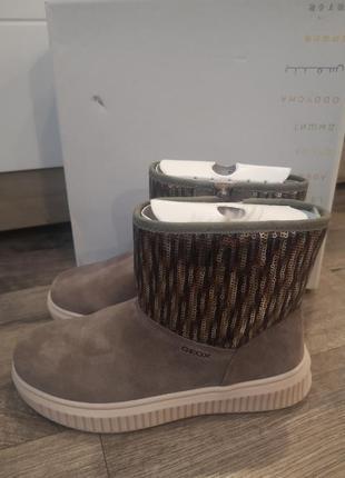 Утепленные ботинки geox   р 38   оригинал