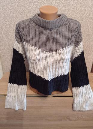 Укороченный свитер светер oversize оверсайз