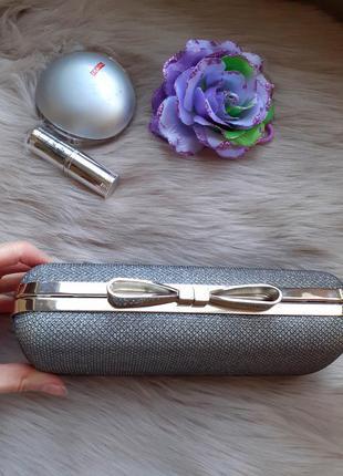Серебристая сумка клатч   accessorize