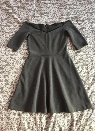 Трендовое платье zara с оголенными плечами. снизила цену!