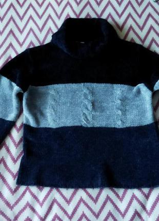 Очень красивый свитер крупной вязки