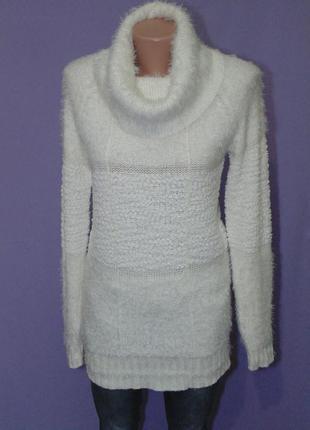 Удлиненный белый свитерок 10 размера best connection