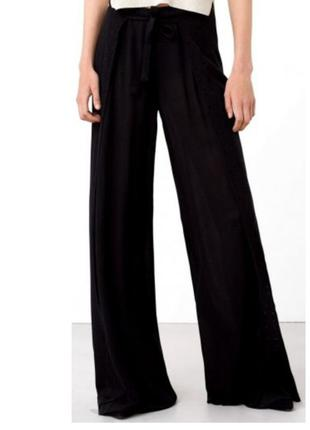 Широкие брюки с высокой талией  класические брючки