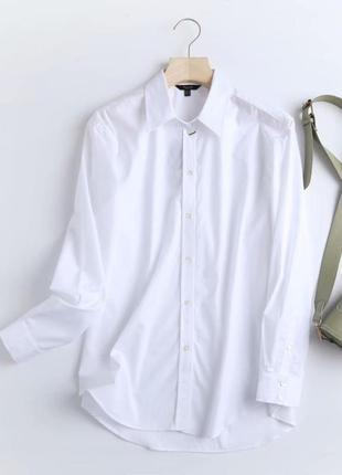 Белая рубашка натуральная