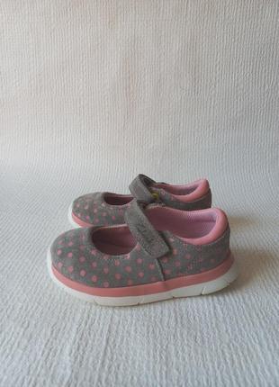 Clarks оригинальные кожаные туфельки 22
