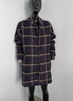 Пальто mango шерсть стильное теплое бойфренд