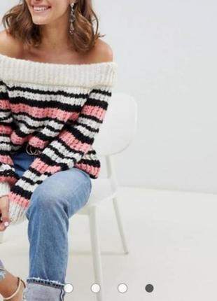 ❤️ объемный теплый свитер на плечи