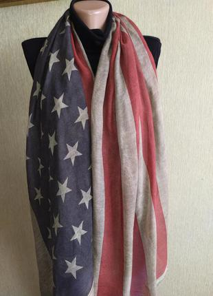 Фирменный большой шарф палантин