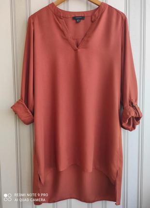 Классная трендовая рубашка, блуза, туника 100 % вискоза. большой размер.