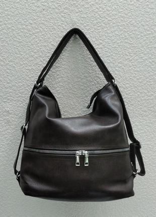 Женская сумка-рюкзак   (коричневая) 21-09-016