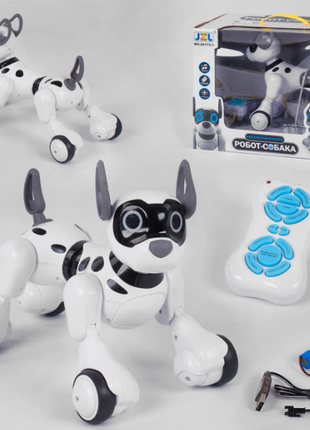 Робот-собачка на радиоуправлении 20173-1 аккум.3.7 v., пульт на д/у, подсветка, звук, ходит, танцует