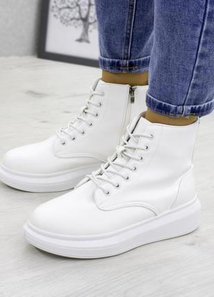 Белые деми ботинки