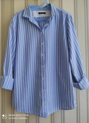 Крутая рубашка в полоску дорогого бренда 100% хлопок