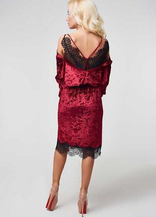 Последнее!!! бархатное платье-легенда с потрясающе красивой кружевной спинкой!