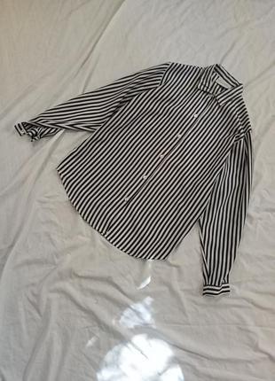 Удлиненная полосатая рубашка