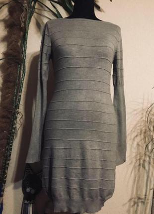 🔥отличное🔥 базовое тёплое платье миди осень
