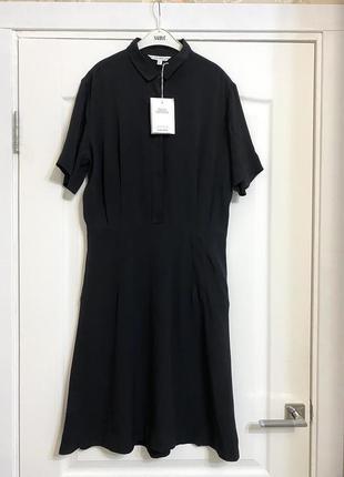 Новое чёрное платье до колен & other stories