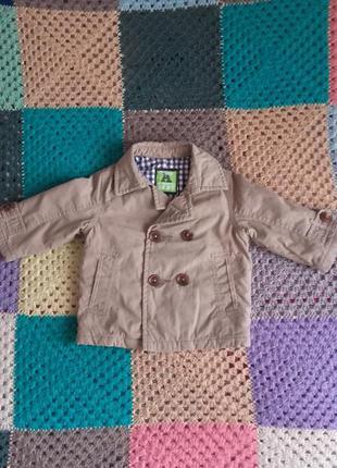 Дуже класна куртка-піджак на синтепоні 6-9міс