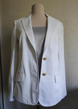 Пиджак белый коттон tommy hilfiger