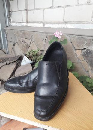 Кожаные туфли ,лоферы известного бренда geox
