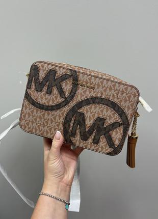 Сумка michael kors ginny medium logo crossbody bag