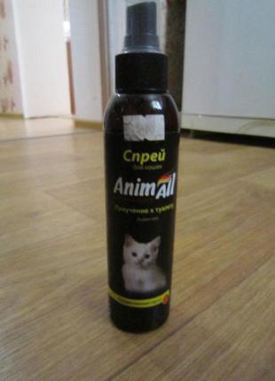 Спрей для привлечения к туалету кота animall