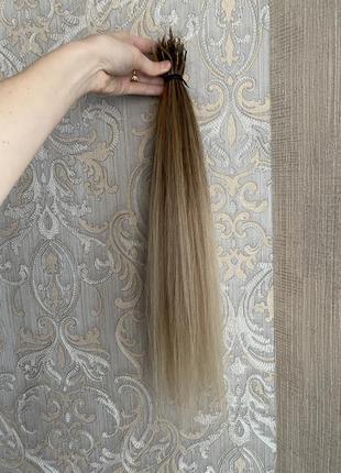 Славянка люкс 50 см омбре волосы для наращивания