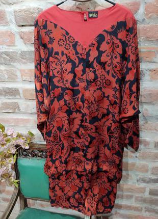 Винтажное платье grido из шелка свободного кроя
