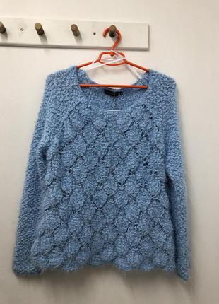 Нежно-голубой свитер new look очень мягкий !