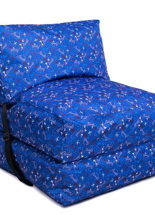 Бескаркасное кресло раскладушка принт